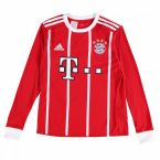 Bayern Munich 2017-2018 Home Long Sleeve Shirt (Kids)