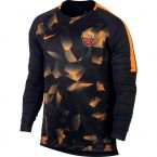 AS Roma 2017-2018 LS Pre-Match Training Shirt (Black)