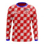 Croatia 2018-2019 Long Sleeve Home Concept Shirt (Kids)