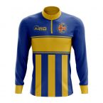 Aland Concept Football Half Zip Midlayer Top (Blue-Yellow)