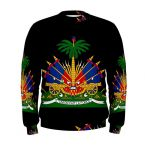 Haiti Coat Of Arms Sublimated Sweatshirt