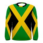 Jamaica Flag Long Sleeve Sublimated Sports Jersey