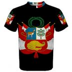Peru Coat of Arms Sublimated Sports Jersey
