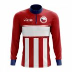 Czech Republic Concept Football Half Zip Midlayer Top (Red-White)