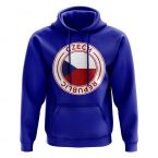 Czech Republic Football Badge Hoodie (Royal)