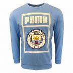 Manchester City 2019-2020 Shoe Tag Sweat Top (Blue)