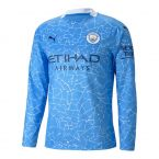 Manchester City 2020-2021 Home Long Sleeve Shirt