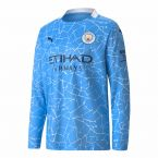 Manchester City 2020-2021 Home Long Sleeve Shirt (Kids)