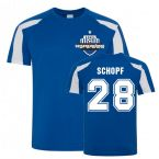 Alessandro Schopf Schalke Sports Training Jersey (Blue)