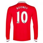 Man Utd 14-15 Long Sleeve Home Shirt (Rooney 10) - Kids