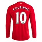 Football 15-16 Home Long Sleeve Shirt (Coutinho 10) - Kids