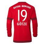 Bayern Munich Long Sleeve 15-16 Home Shirt (Gotze 19) - Kids