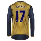 Arsenal 15-16 Long Sleeve Away Shirt (Alexis 17) - Kids