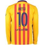 2015-2016 Barcelona Long Sleeve Away Shirt (Messi 10)