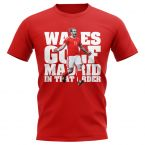 Gareth Bale Wales Golf Real Madrid TShirt (Red)
