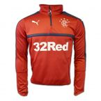 Rangers 2016-2017 Half Zip Training Top (Chilli Pepper)