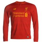 Liverpool 2016-2017 Home Long Sleeve Shirt (Kids)