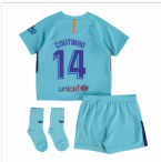 2017-2018 Barcelona Away Baby Kit (Coutinho)
