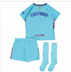 2017-2018 Barcelona Away Mini Kit (Coutinho)