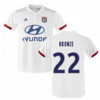 2019-2020 Olympique Lyon Adidas Home Football Shirt (Kids) (Bronze 22)