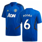2019-2020 Man Utd Adidas Training Shirt (Blue) (Pogba 6)
