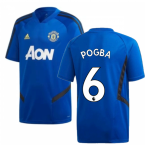 2019-2020 Man Utd Adidas Training Shirt (Blue) - Kids (Pogba 6)