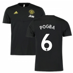 2019-2020 Man Utd Adidas Training Tee (Black) (Pogba 6)