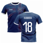 2019-2020 Glasgow Home Concept Football Shirt (Kamara 18)