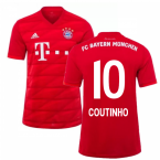 2019-2020 Bayern Munich Adidas Home Football Shirt (Coutinho 10)
