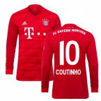 2019-2020 Bayern Munich Adidas Home Long Sleeve Shirt (Coutinho 10)