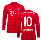 2019-2020 Bayern Munich Adidas Home Long Sleeve Shirt (Kids) (Coutinho 10)