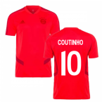 2019-2020 Bayern Munich Adidas Training Shirt (Red) (Coutinho 10)