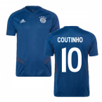 2019-2020 Bayern Munich Adidas Training Shirt (Night Marine) (Coutinho 10)