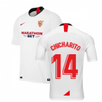 2019-2020 Sevilla Home Nike Football Shirt (Chicharito 14)