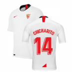 2019-2020 Sevilla Home Shirt (Kids) (Chicharito 14)