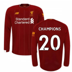 2019-2020 Liverpool Home Long Sleeve Shirt (Kids) (CHAMPIONS 20)