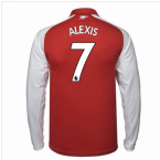 2017-18 Arsenal Home Long Sleeve Shirt (Alexis 7)