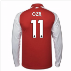 2017-18 Arsenal Home Long Sleeve Shirt - Kids (Ozil 11)