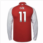 2017-18 Arsenal Home Long Sleeve Shirt (Ozil 11)