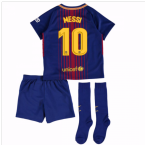 2017-18 Barcelona Home Mini Kit (Messi 10)
