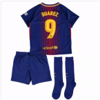 2017-18 Barcelona Home Mini Kit (Suarez 9)