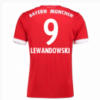 2017-18 Bayern Munich Home Short Sleeve (Kids) (Lewandowski 9)