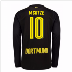 2017-18 Borussia Dortmund Away Long Sleeve Shirt (M Gotze 10)