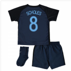 2017-18 England Away Infant Kit (Scholes 8)