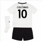 2017-18 Liverpool Away Mini Kit (Coutinho 10)