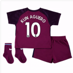 2017-18 Man City Away Baby Kit (Kun Aguero 10)
