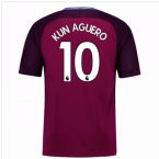 2017-18 Man City Away Shirt (Kun Aguero 10) - Kids