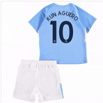 2017-18 Man City Home Baby Kit (Kun Aguero 10)