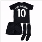 2017-18 Man City Third Mini Kit (Kun Aguero 10)