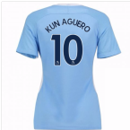 2017-18 Man City Womens Home Shirt (Kun Aguero 10)
